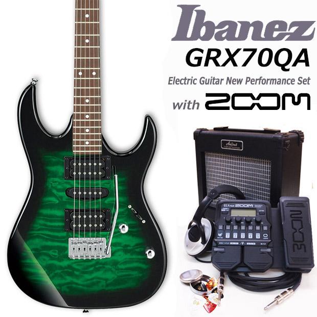 Ibanez アイバニーズ GRX70QA TEBエレキギター初心者 16点入門セット【エレキギター初心者】【送料無料】