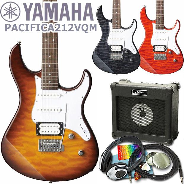 エレキギター 初心者セット 入門セット YAMAHA ヤマハ PACIFICA212VQM 15点セット【エレキ ギター初心者】【エレクトリックギター】