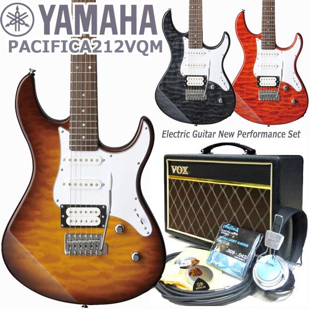 エレキギター 初心者セット 入門セット YAMAHA ヤマハ PACIFICA212VQM VOXアンプ付 15点セット【エレキ ギター初心者】【エレクトリックギター】
