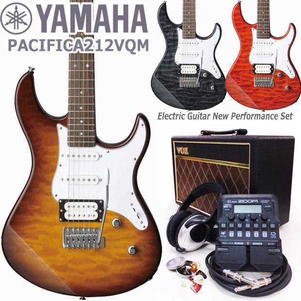 YAMAHA ヤマハ エレキギター PACIFICA212VQM VOXアンプ ZOOM G1Four付き 初心者 入門 18点セット【エレキ ギター入門】