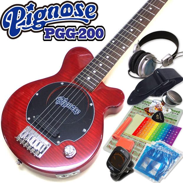 Pignose ピグノーズ PGG-200FM SR SR PGG-200FM フレイムトップ アンプ内蔵ミニギター15点セット シースルーレッド【送料無料 Pignose】, M'sスポーツ:3527898f --- thomas-cortesi.com