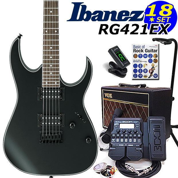 Ibanez アイバニーズ RG421EX BKF エレキギター初心者 18点入門セット【エレキギター初心者】【送料無料】
