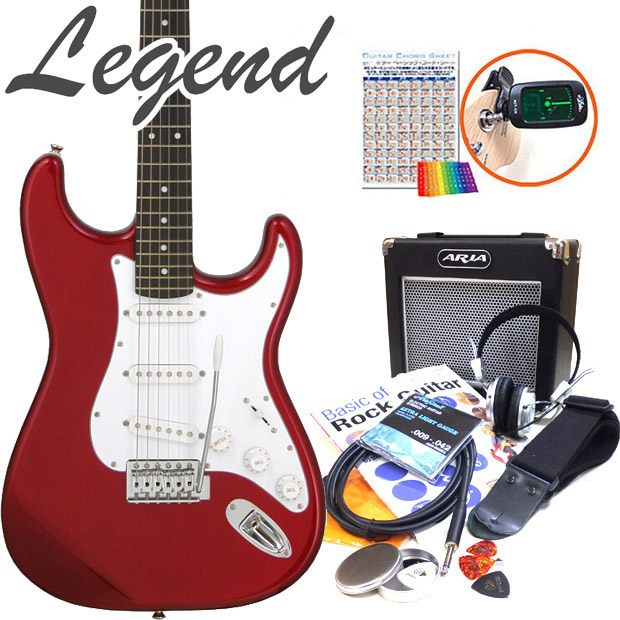 初心者オススメ エレキギター エレクトリックギター 初心者セット 入門セット15点 入門セット Legend 15点セット LST-Z レジェンド いよいよ人気ブランド エレキ 定価の67%OFF ギター初心者 CACA