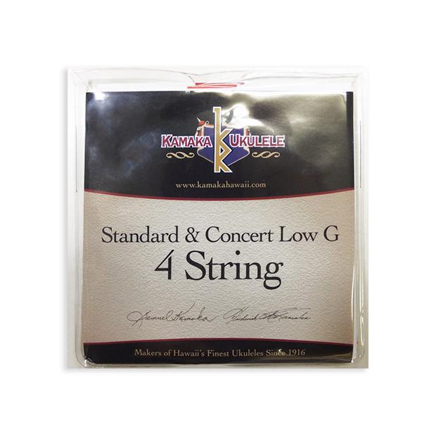 ネコポス ポスト投函で送料¥230 在庫あり KAMAKA おすすめ特集 Standard Concert Low-G String 4カマカ ポスト投函 旧速達メール便 コンサート用Low-G np ウクレレ弦 スタンダード 送料230円