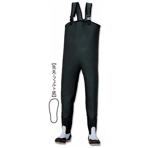 阪神素地 CF-402 胴付長靴[先丸・フェルト底] 24cm