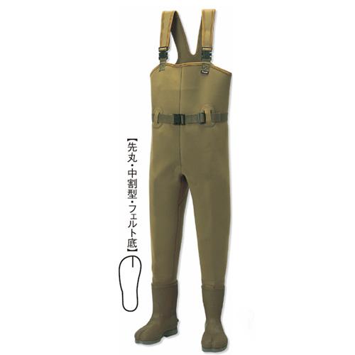 阪神素地 CW-455 チェストハイウェーダー[中割・フェルト底] 25cm