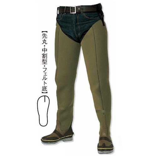 阪神素地 CF-701 水中長靴[中割・フェルト底] 25cm