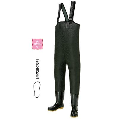 阪神素地 CF-483 胴付長靴 PVC耐油底(先芯入)【先丸・塩ビ底】 25cm