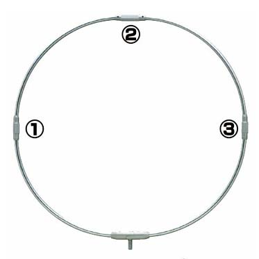 ダイトウブク 四ツ折り玉枠「ネジ1.2.3固定式ジョイント」 70cm用(フレームのみ) N0.1263