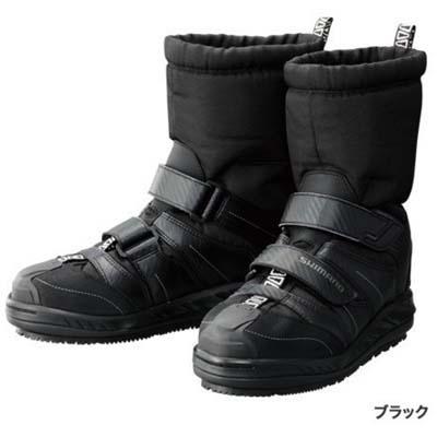 シマノ ジオロック・スーパーサーマルデッキラジアルブーツ FB-051P ブラック L