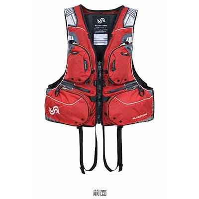 高階救命器具 ブルーストーム BSJ-170R SARASHI 固形式ライフジャケット ハイエンドフローティングベスト レッド/XLサイズ