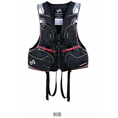 高階救命器具 ブルーストーム BSJ-170R SARASHI 固形式ライフジャケット ハイエンドフローティングベスト ブラック/Lサイズ