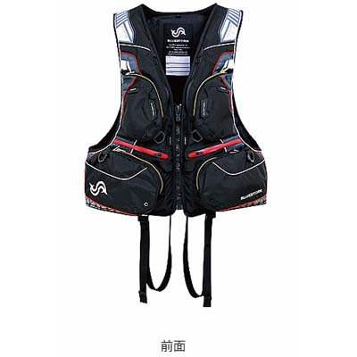 高階救命器具 ブルーストーム BSJ-170R SARASHI 固形式ライフジャケット ハイエンドフローティングベスト ブラック/XLサイズ