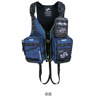 高階救命器具 ブルーストーム BSJ-26DXR ANOMALOCARIS 固形式ライフジャケット ハイエンドルアーフィッシングモデル ネイビー