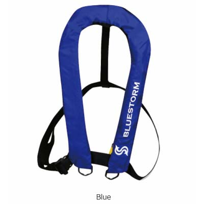 高階救命器具 ブルーストーム BSJ-2300RS 膨脹式ライフジャケット(手動膨張式) 手動膨張式スタンダードモデル Blue
