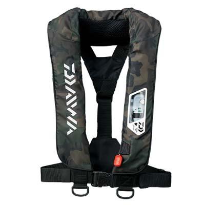 ダイワ DF-2007 ウォッシャブルライフジャケット(肩掛けタイプ手動・自動膨脹式) フリーサイズ グリーンカモ