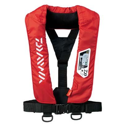 ダイワ DF-2007 ウォッシャブルライフジャケット(肩掛けタイプ手動・自動膨脹式) フリーサイズ レッド