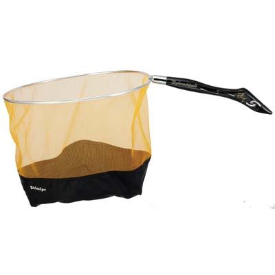 チャラ瀬や岩盤ポイントで頼れる袋ダモ シミズ テクノメッシュFTソフト 袋ダモ 36cm ゴールド