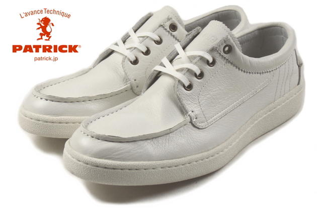 交換・返品送料無料 パトリック PATRICK LINDOS リンドス WHT ホワイト 527050