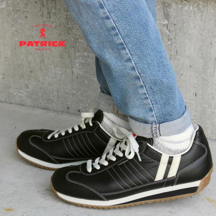交換・返品送料無料 定番 パトリック PATRICK スニーカー MARATHON-L マラソン レザー BLK ブラック 98701