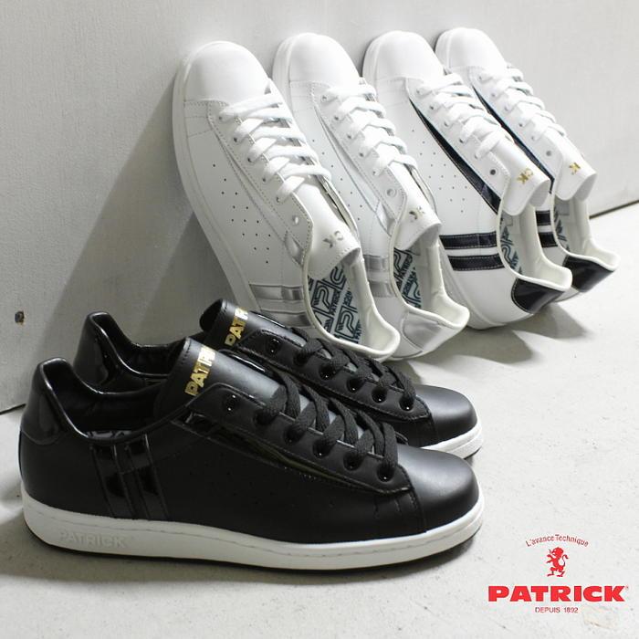 交換・返品送料無料 パトリック PATRICK スニーカー アール ロンウィ R.LONGWY ブラック BLK (530811) ホワイト/ネイビー WH/NY (530812) ホワイト/シルバー WH/SV (530814)【FMFG】