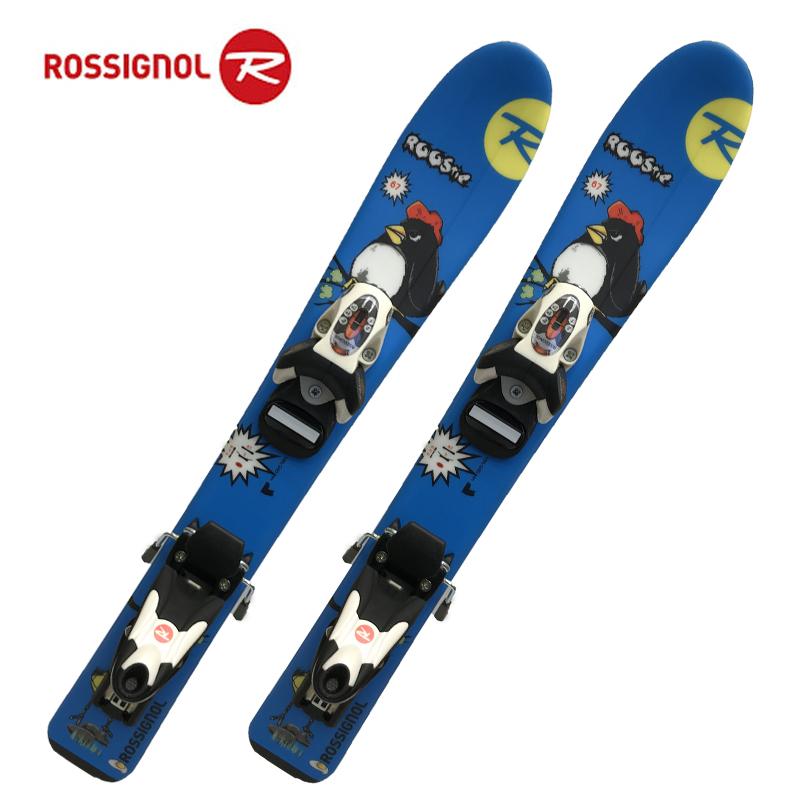 冬物クリアランス!!ロシニョール キッズ スキー板 ビンディング付きROOSTIE+COMP KID 25RACWV01 67cm ウロコスキー 初めてスキーを履く