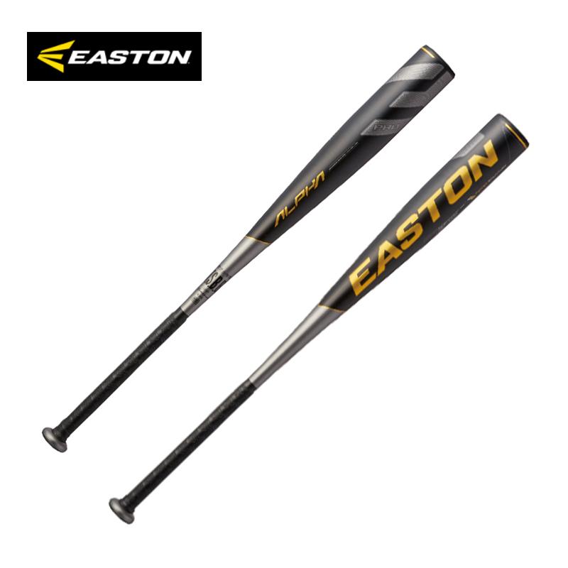 イーストン 少年軟式用バット  イーストン 少年軟式用バット 超々ジュラルミン Alpha NY20ALS ブラック/ゴールド ミドルバランス J号球対応 EASTON 【202104A】