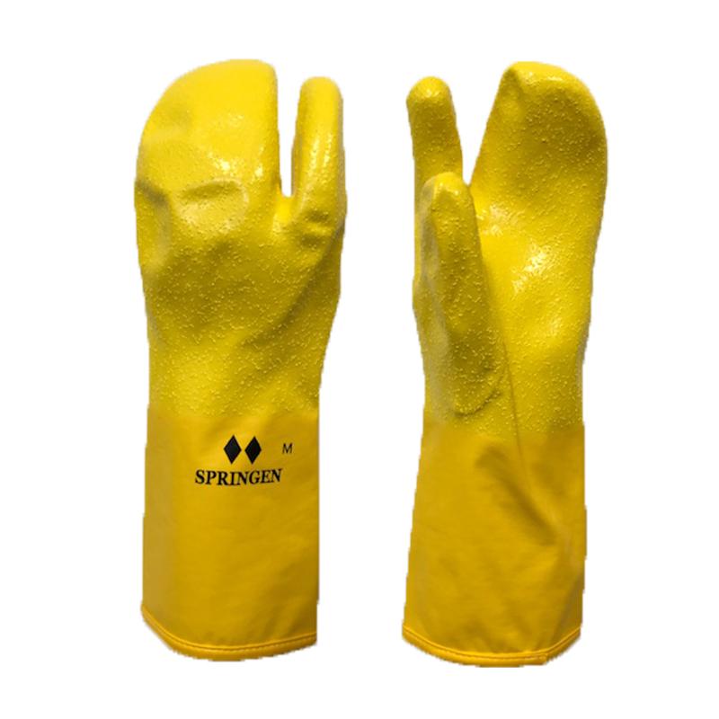 ゴム手の先入観を捨てて下さい お買い得 そしてゴム手の実用性を実感してください スキー スノボ 完全送料無料 冬作業にオススメです スプリンゲン 一般用イエロー ポリウレタン製防寒防水手袋 SPRINGRNトリガーミトン