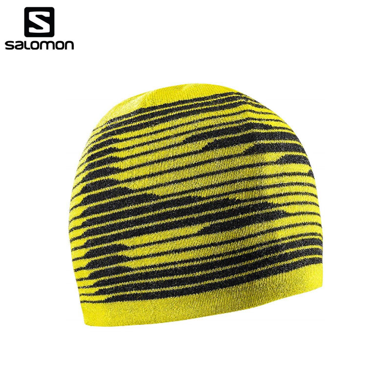 f9a58d37 2018 NEW!! in the fall and winter SALOMON (Salomon) beanie graphic knit ...