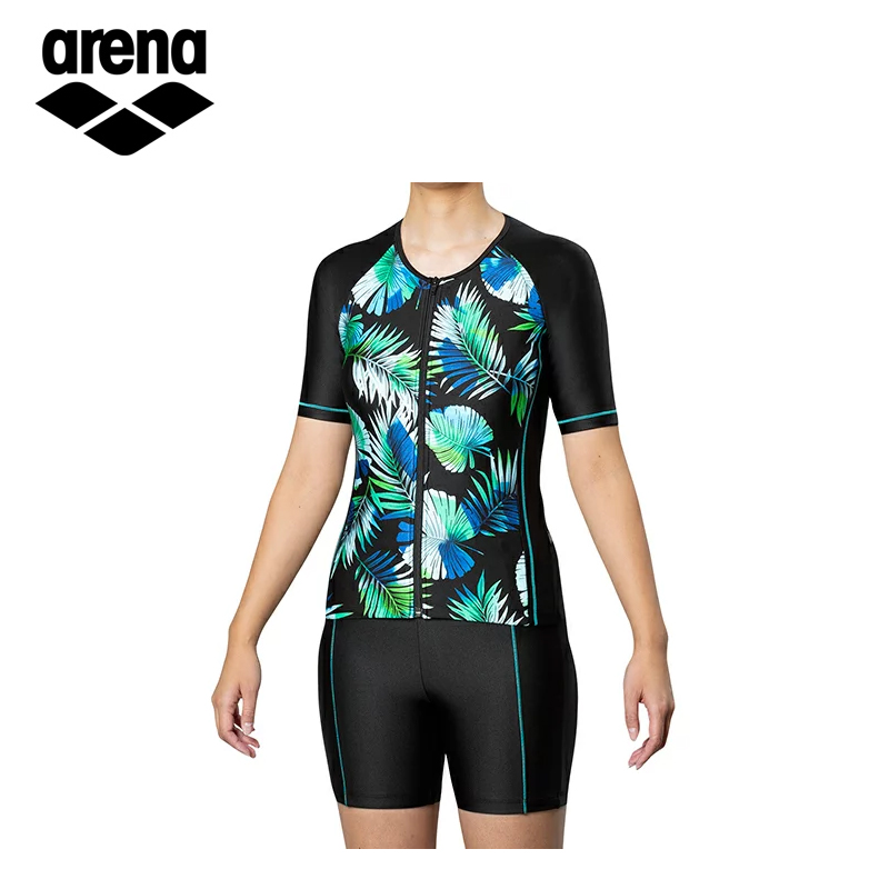 アリーナ レディース フィットネス水着 袖付きセパレーツ水着 FLA-9948W 水泳 スイミング プール