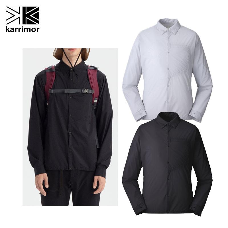 カリマー ロングシャツ マウンテンシャツベクターウィンドシャツ ロングスリーブメンズ 101010 長袖