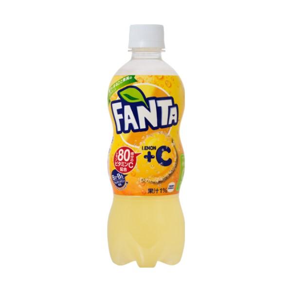 『送料無料』ファンタ レモン+C 500ml ペットボトル 96本(4ケース) 炭酸飲料・コカコーラ『メーカー直送・代金引換不可・キャンセル不可』
