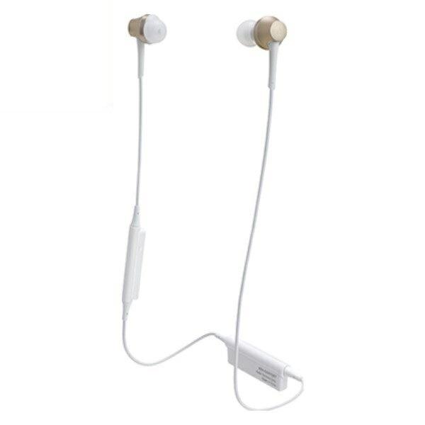 \ポイント5倍/『送料無料』オーディオテクニカ Bluetooth ワイヤレスヘッドホン aptx/AAC対応 シャンパンゴールド ATH-CKR75BTCG