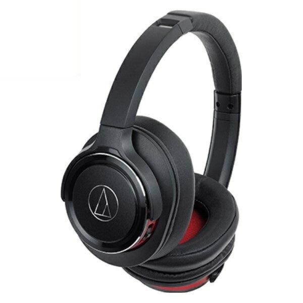 『送料無料』オーディオテクニカ Bluetooth ワイヤレスヘッドホン SOLID BASS ブラックレッド ATH-WS660BTBRD