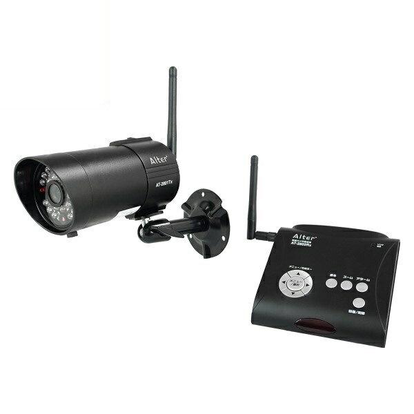 \ポイント5倍/『送料無料』キャロットシステムズ 防水/防塵デジタル無線カメラセット 録画一体型 屋外対応セキュリティカメラ オルタプラス AT-2800