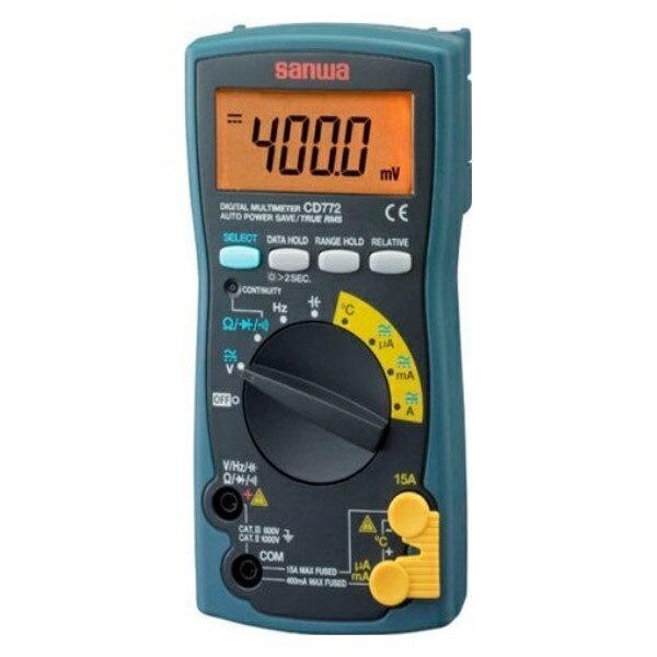 \ポイント5倍/『送料無料』三和電気計器/SANWA デジタルマルチメータ True RMS/温度測定対応 CD-772