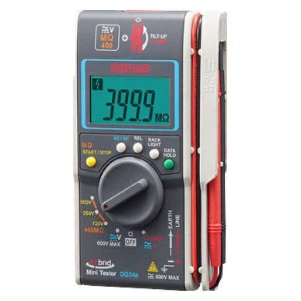 \ポイント5倍/『送料無料』三和電気計器/SANWA デジタルマルチメータ 電圧測定/MΩテスト機能/クランプメータ DG-34A