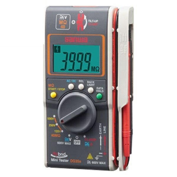 \ポイント5倍/『送料無料』三和電気計器/SANWA デジタルマルチメータ 電圧測定/MΩテスト機能/クランプメータ DG-35A