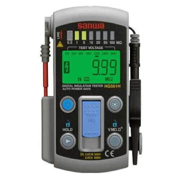 『送料無料』三和電気計器/SANWA デジタル絶縁抵抗計/接地抵抗計/絶縁抵抗計 HG-561H