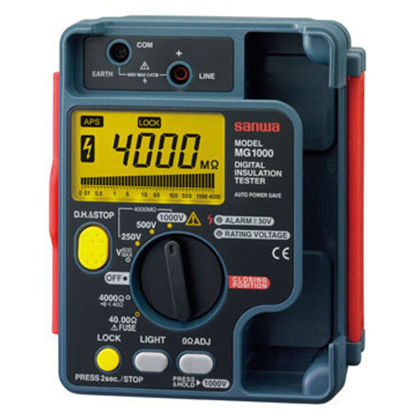 『送料無料』三和電気計器/SANWA デジタル絶縁抵抗計/接地抵抗計/絶縁抵抗計 MG-1000
