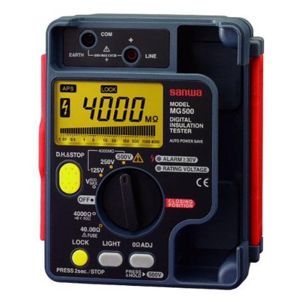 『送料無料』三和電気計器/SANWA デジタル絶縁抵抗計/接地抵抗計/絶縁抵抗計 MG-500