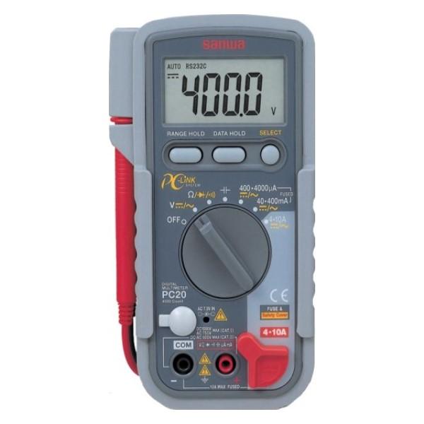 三和電気計器/SANWA デジタルマルチメータ データ処理/パソコン接続 PC-20