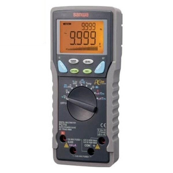 最大ポイント4倍!『送料無料』三和電気計器/SANWA デジタルマルチメータ 高確度/高分解能/パソコン接続 PC-710