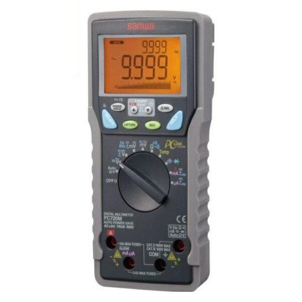 \ポイント5倍/『送料無料』三和電気計器/SANWA デジタルマルチメータ 高確度/メモリ付/パソコン接続 PC-720M
