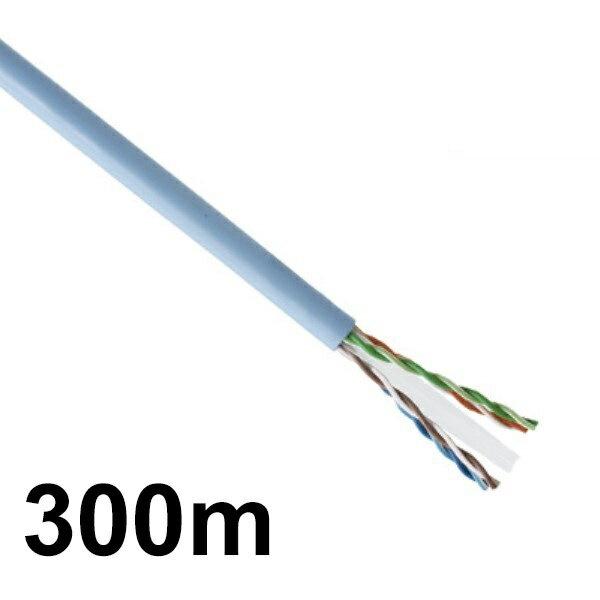最大ポイント4倍!『送料無料』LANケーブル 300m巻き 未加工 CAT6/ストレート/単線 ライトグレー CML-C6300MLG