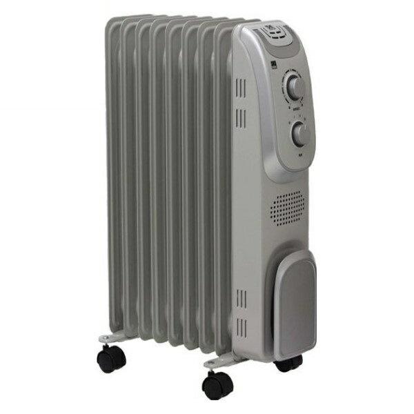 \エントリーでポイント6倍/『送料無料』DBK オイルラジエーターヒーター 木造 4.5畳/コンクリート 7畳 ライトグレー DRM1009GM ディー・ビー・ケー 暖房器具 あったか オイルヒーター