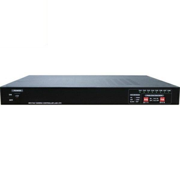 \ポイント5倍/『送料無料』マザーツール UTC対応ワンケーブルAHDカメラ用電源ユニット 8チャンネル 電源重畳式 18-0083 MT-POC8RX