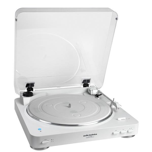 『送料無料』オーディオテクニカ ワイヤレスターンテーブル ホワイト Bluetooth対応レコードプレーヤー AT-PL300BTWH