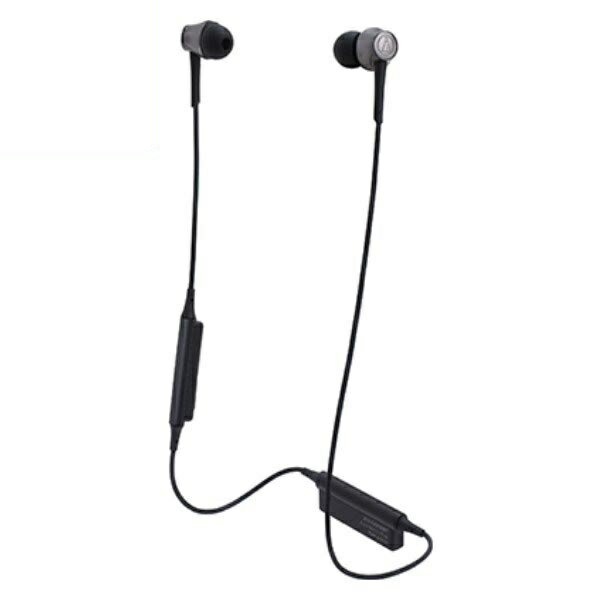 \ポイント5倍/『送料無料』オーディオテクニカ Bluetooth ワイヤレスヘッドホン aptx/AAC対応 スティールブラック ATH-CKR55BTBK