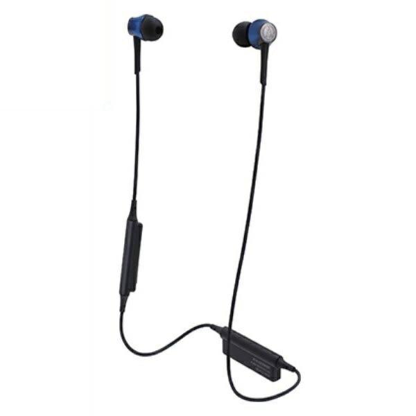 \ポイント5倍/『送料無料』オーディオテクニカ Bluetooth ワイヤレスヘッドホン aptx/AAC対応 ディープブルー ATH-CKR55BTBL